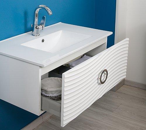 tiroir meuble de salle de bain