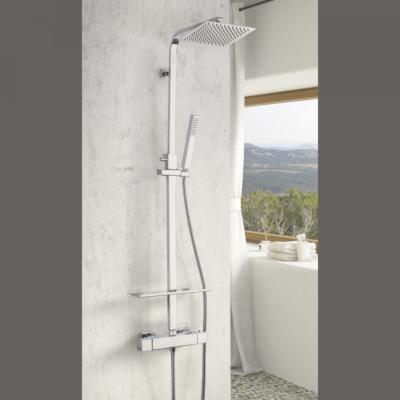 Colonne de douche thermostatique avec tablette Huron