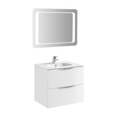 Meuble de salle de bain 60cm laqué blanc AGATE