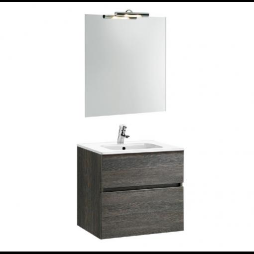 Meuble de salle de bain suspendu 60cm wengé JADE