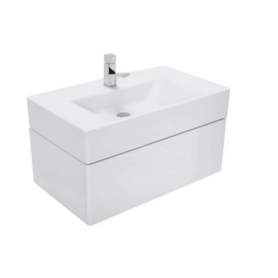 Meuble de salle de bain suspendu 60x47cm laqué blanc CASUAL
