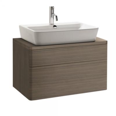 Meuble de salle de bain suspendu 80x45cm bois cendré EMMA