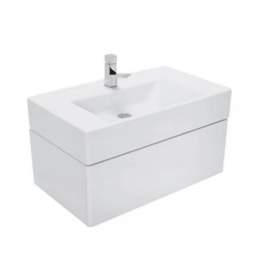 Meuble de salle de bain suspendu 80x47cm laqué blanc CASUAL