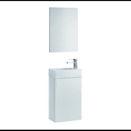 Meuble lave-mains de 39x22cm laqué blanc PETIT
