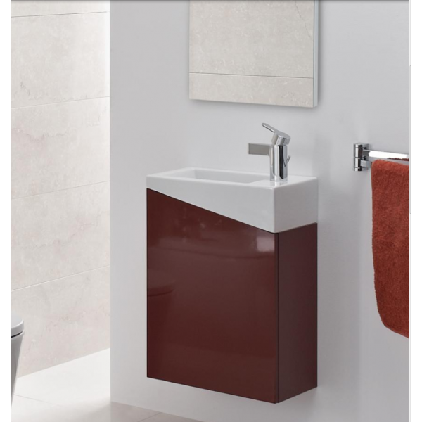 Meuble lave mains vasque c ramique city plus tendance carrelages rouen - Meuble vasque lave main ...