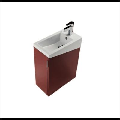 Meuble lave mains de 40cm blanc brillant venus tendance carrelages rouen - Meuble vasque lave main ...