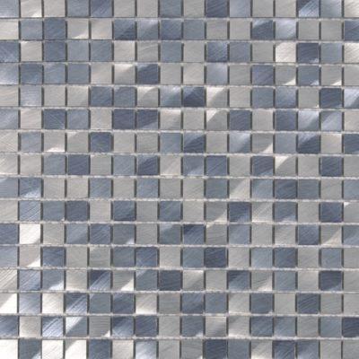 Mosaïque Aluminium brosée mem101