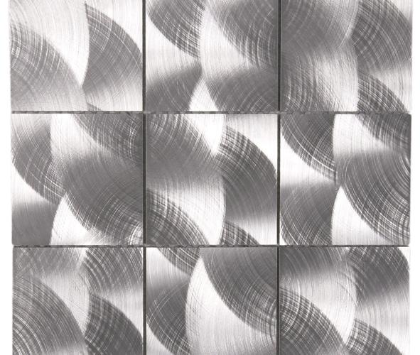 Mosaïque Aluminium brossé mear7