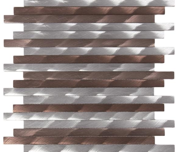 barette aluminium brosée Mem108
