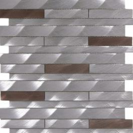 barette aluminium brosée mem105