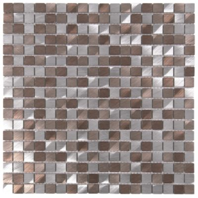 mosaïque aluminium brosée mem102