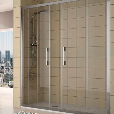 parois de douche clear deux portes deux élément fixe par salgar