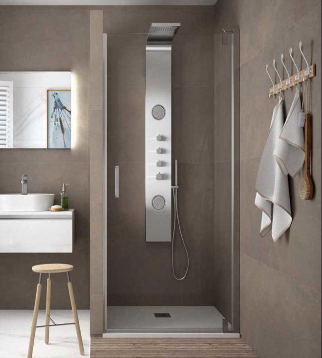 Malmo parois de douche une porte un fixe par salgar