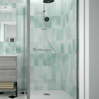 façade douche avec fixe salgar