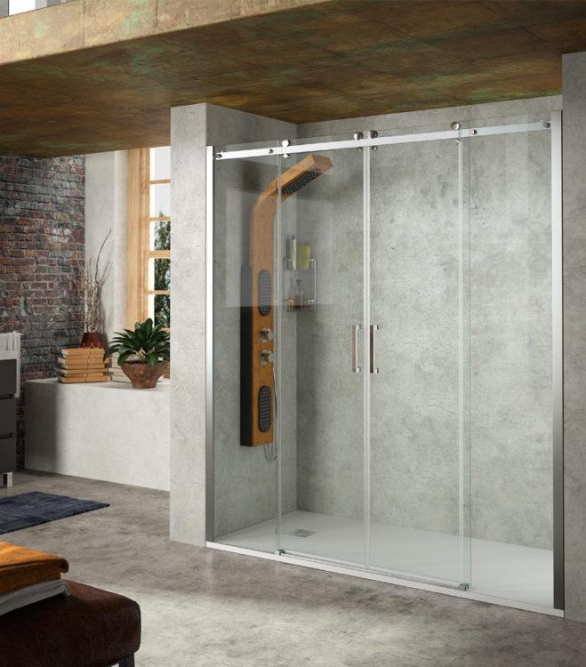helsinki façade de douche deux portes deux fixes Salgar